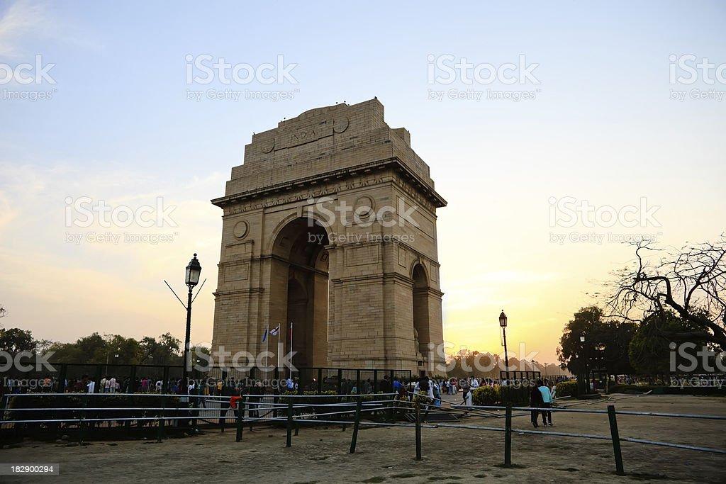 India Gate in Delhi stock photo