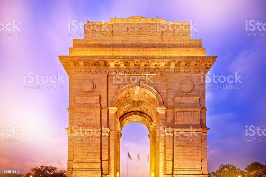 India Gate in New Dehli at dusk stock photo