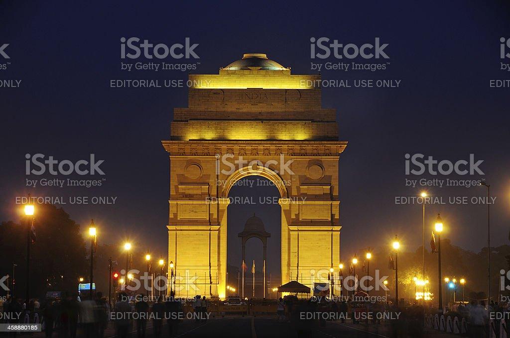 India Gate in New Delhi stock photo