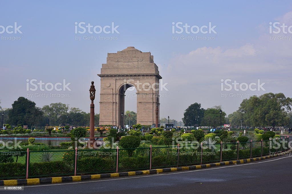 India Gate Landmark New Delhi stock photo