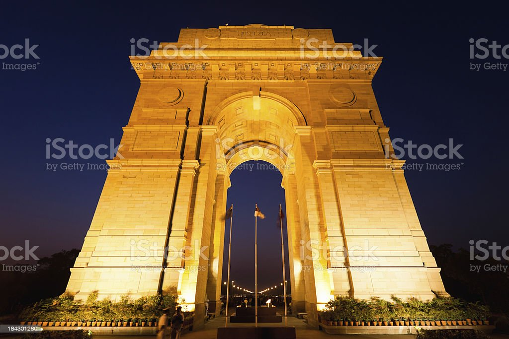 India Gate New Dehli stock photo