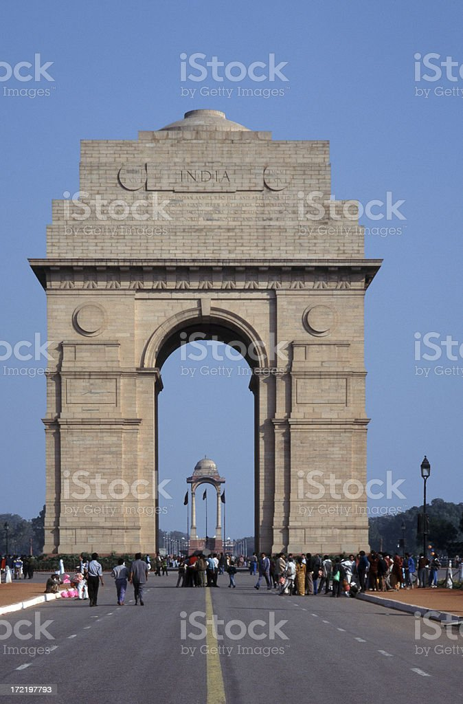 India Gate, New Delhi royalty-free stock photo