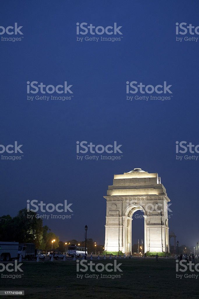 India Gate, New Delhi royalty-free stock photo