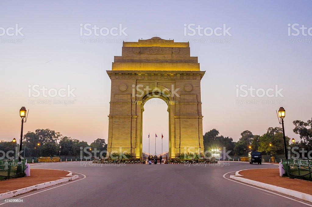 India Gate, New Delhi stock photo
