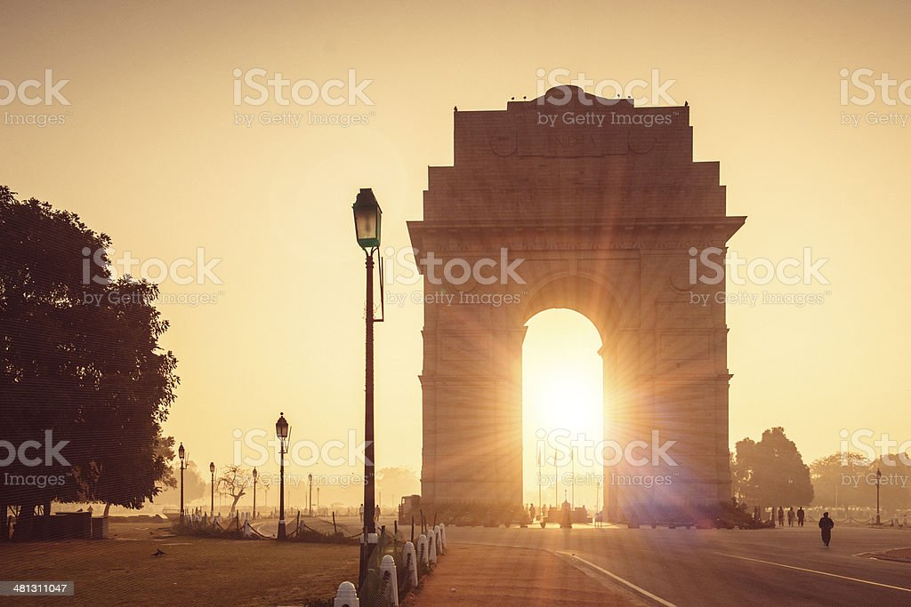 India Gate New Delhi stock photo