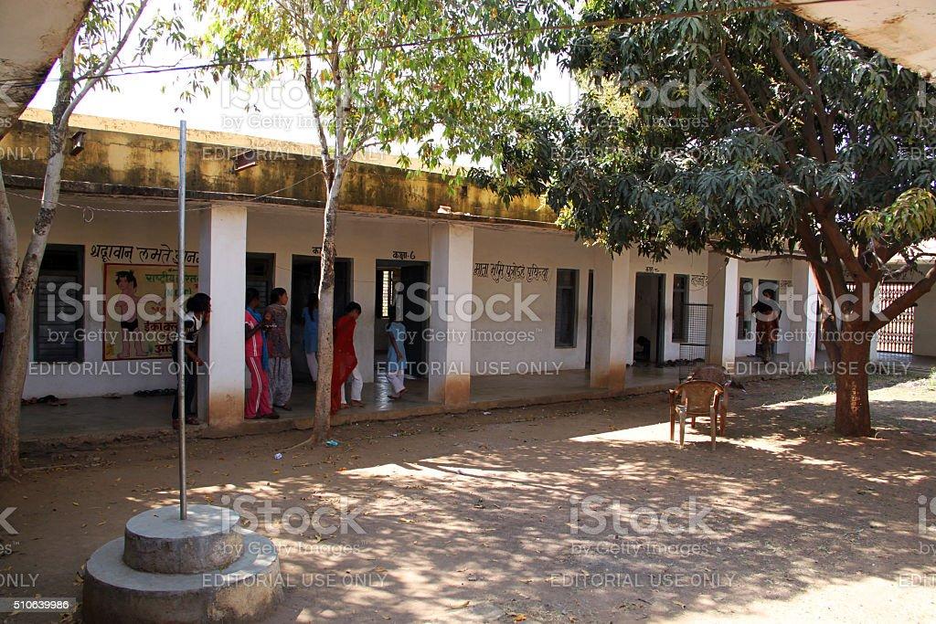 India: Girl's School in Orchha stock photo