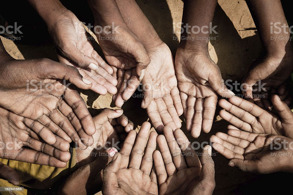India Hands of the Poor royalty-free stock photo