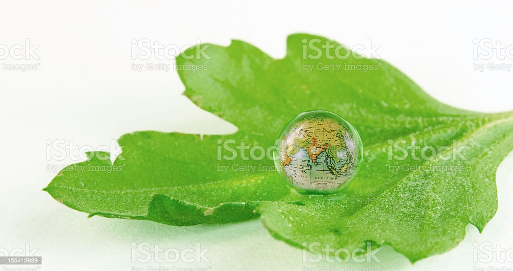India in  a Ball of Water royalty-free stock photo