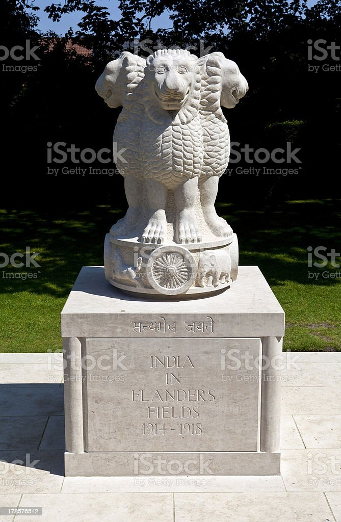 India in Flanders Fields Monument, Ypres stock photo