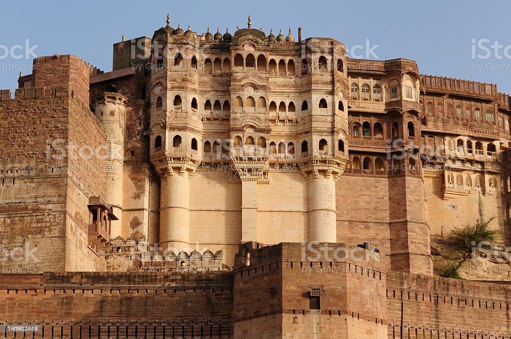 India - Jodphur  Meherangarh Fort stock photo