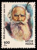 India Leo Tolstoy postage stamp