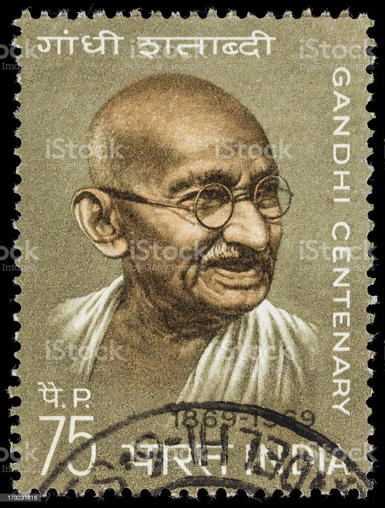 India Mahatma Gandhi centenary postage stamp stock photo