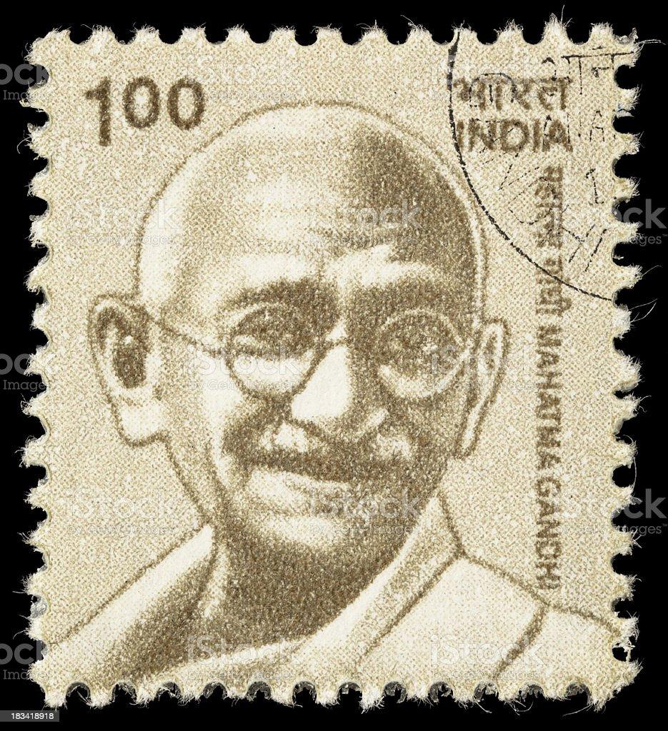 India Mahatma Gandhi postage stamp stock photo