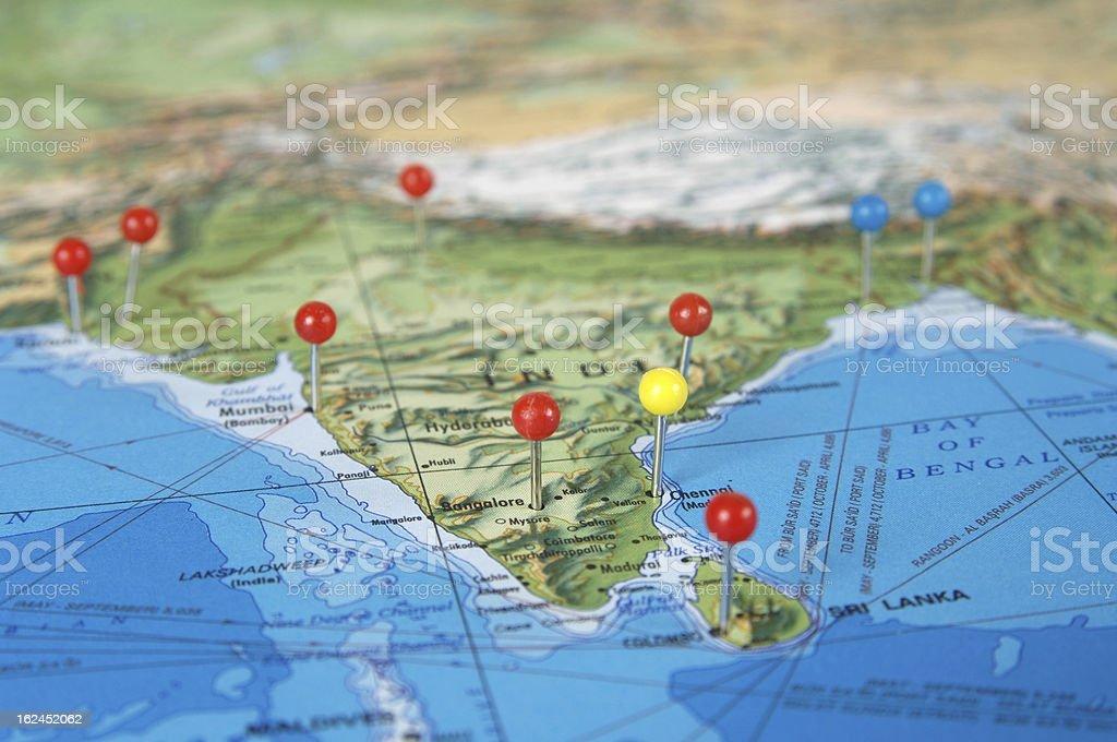 India Map royalty-free stock photo
