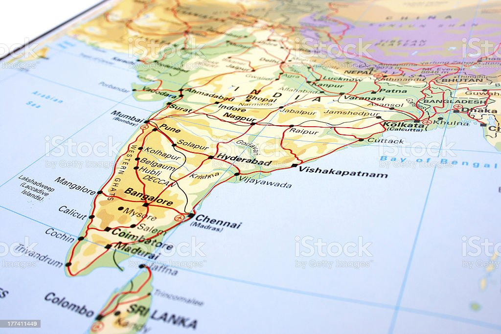 India map stock photo
