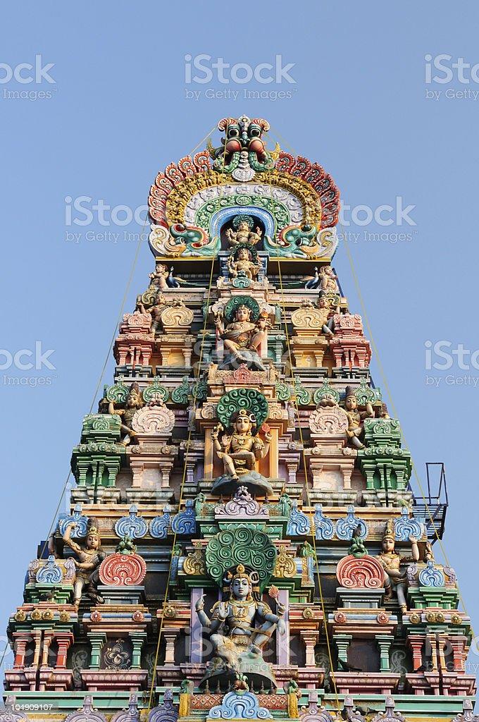 India - Meenakshi  Sundareswarar Temple royalty-free stock photo