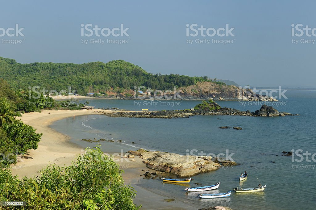 India - OM Beach stock photo