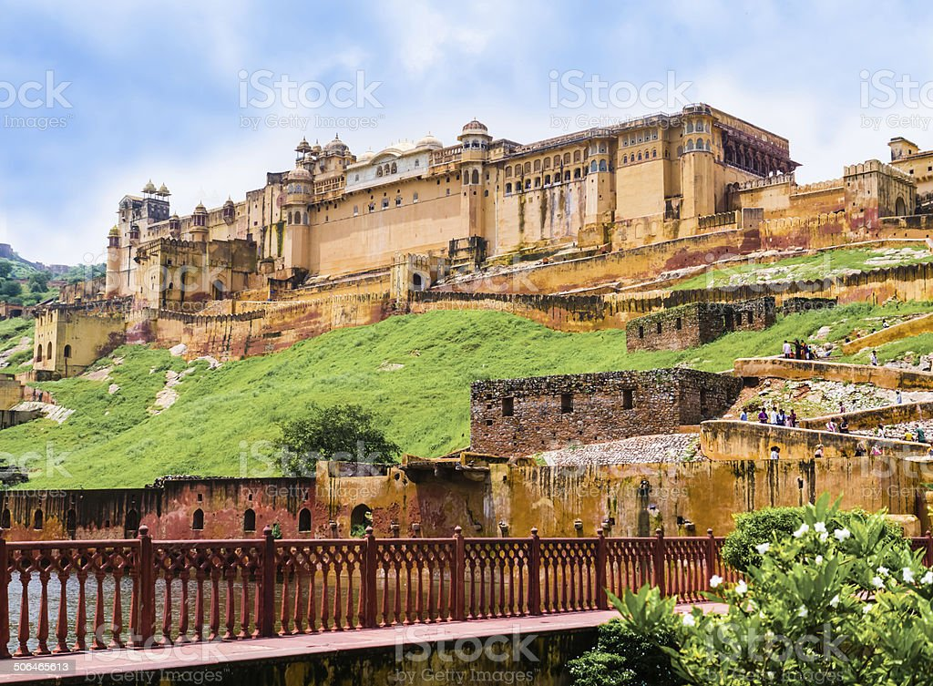 India, Rajasthan, Amber Fort near Jaipur stock photo
