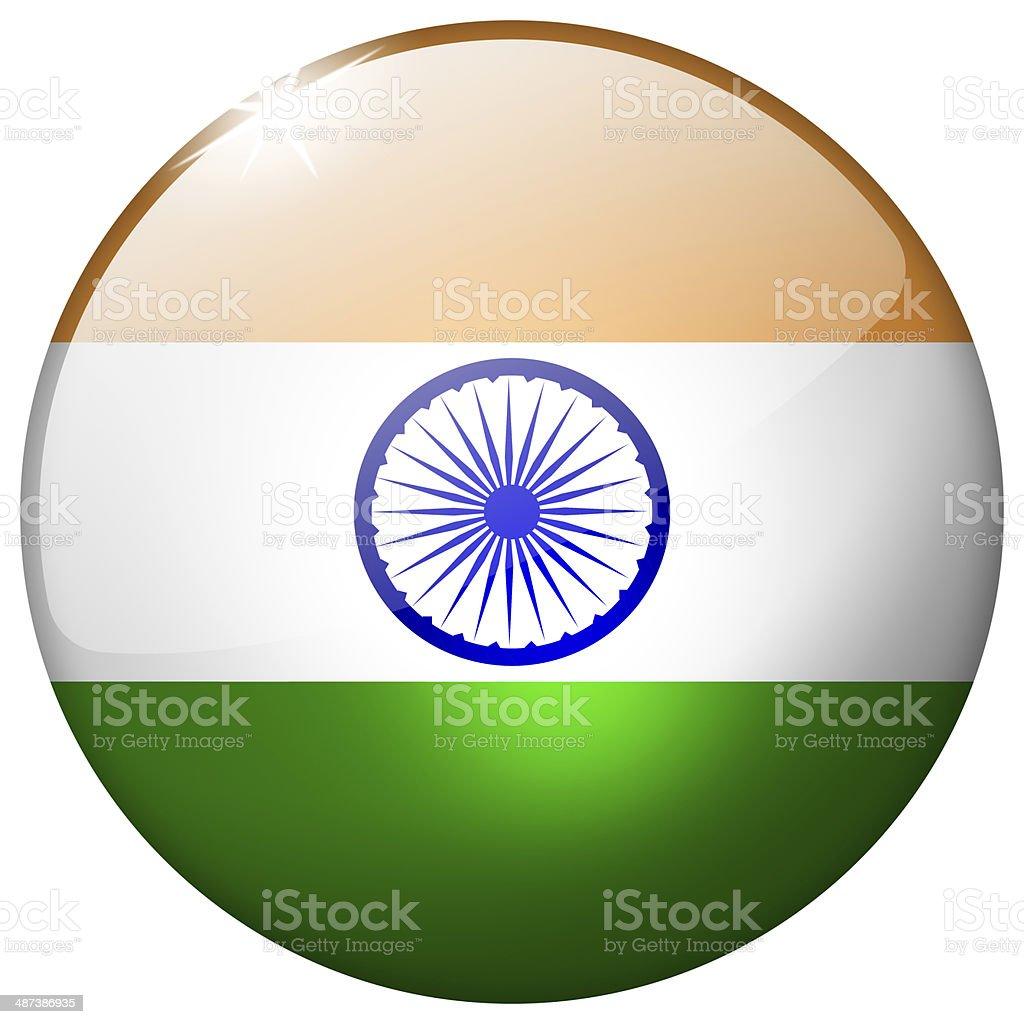 India Round Glass Button stock photo
