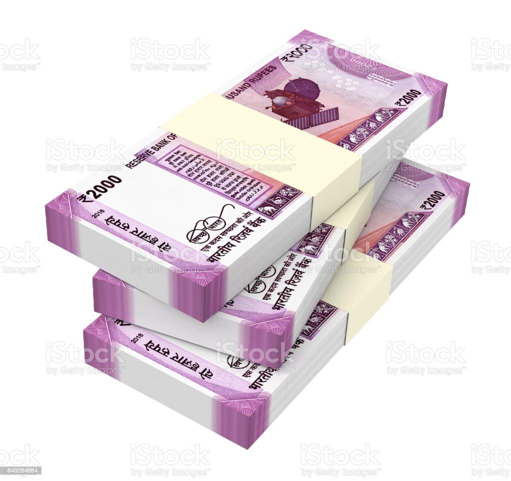 India Rupee isolated on white background. stock photo