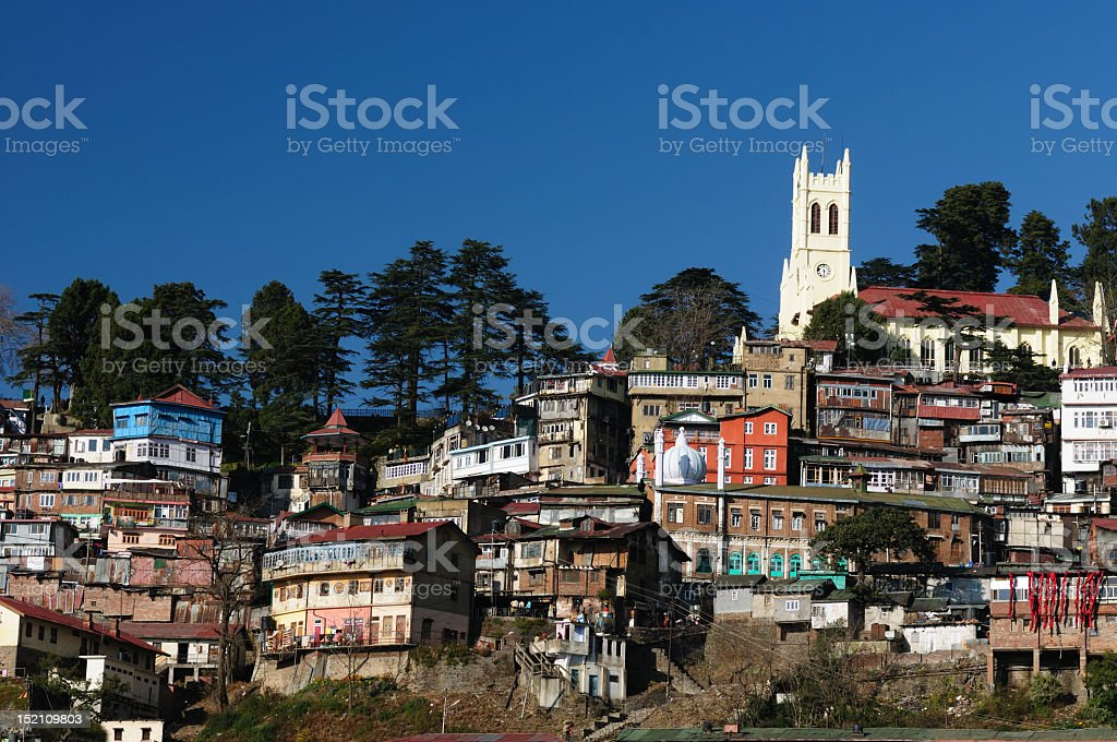 India, Shimla, Himalaya mountains royalty-free stock photo