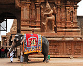 India South-India Tanjore: Brihadishvara temple