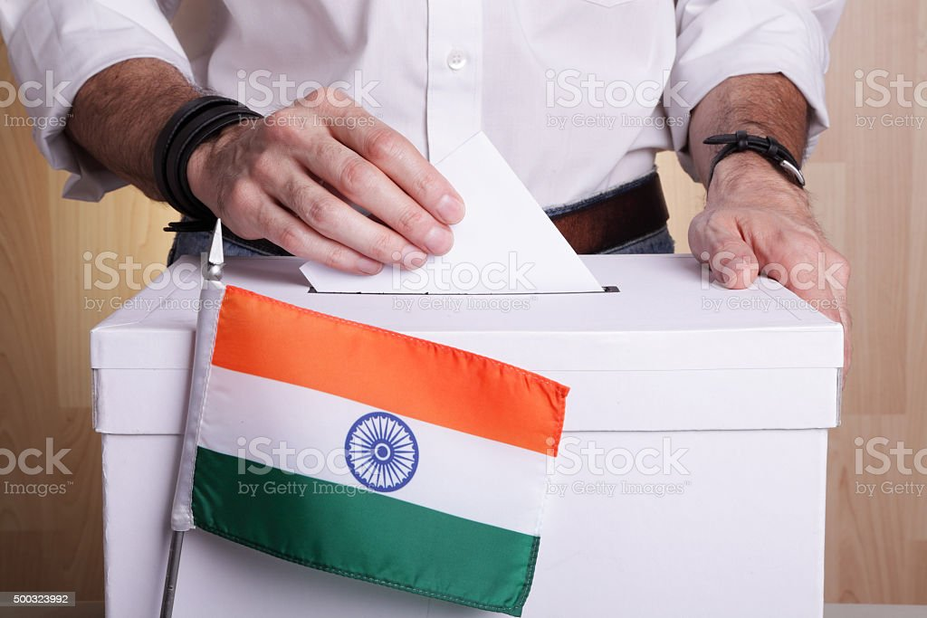 India to vote stock photo