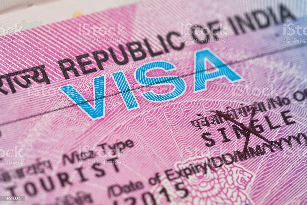India Travel Visa stock photo