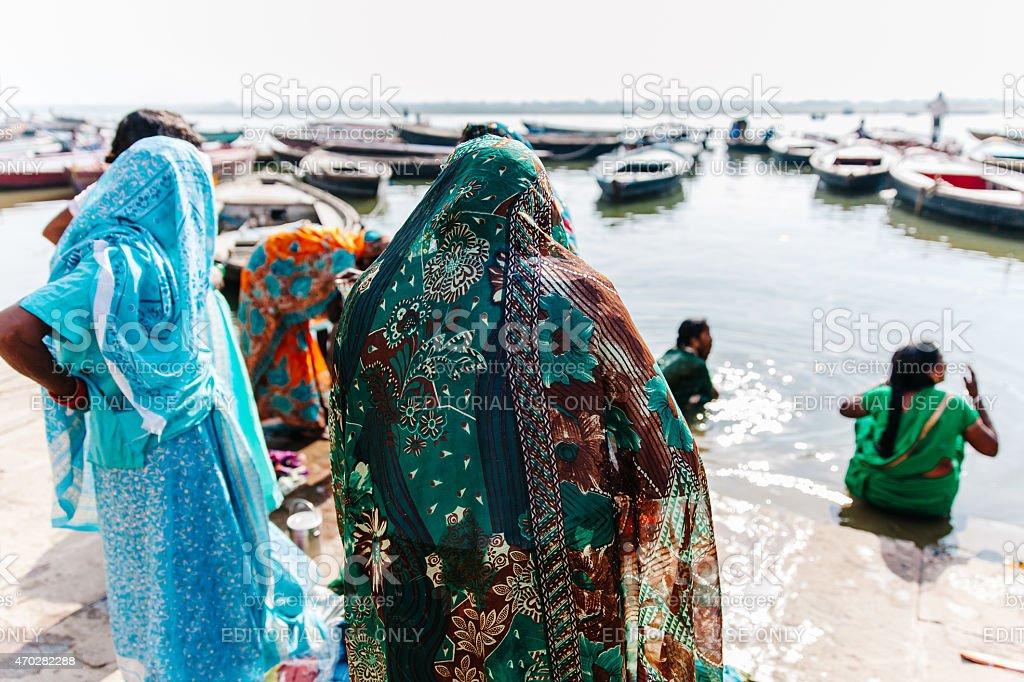 India: Varanasi Bath stock photo