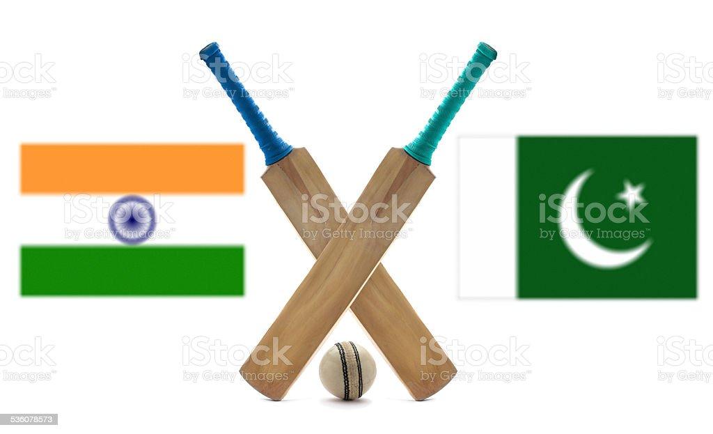 India vs Pakistan cricket stock photo
