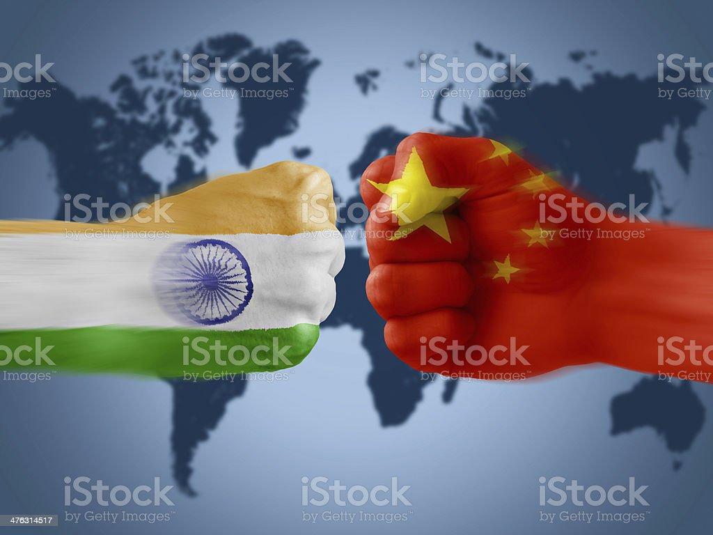 india x china royalty-free stock photo