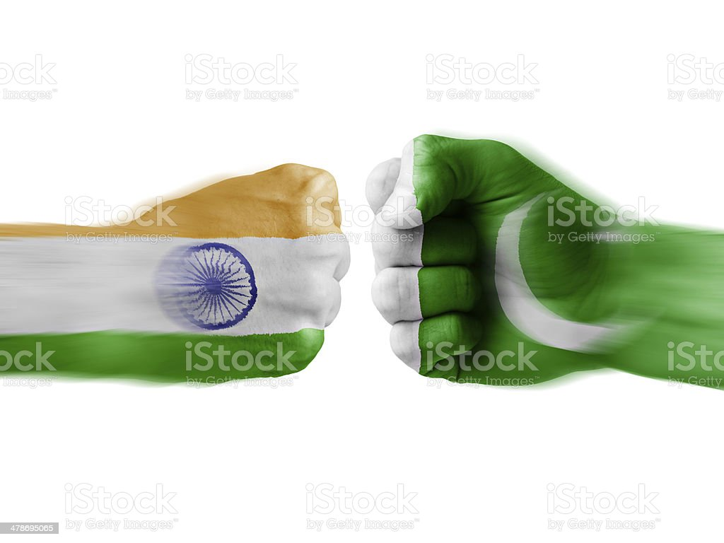 india x pakistan stock photo