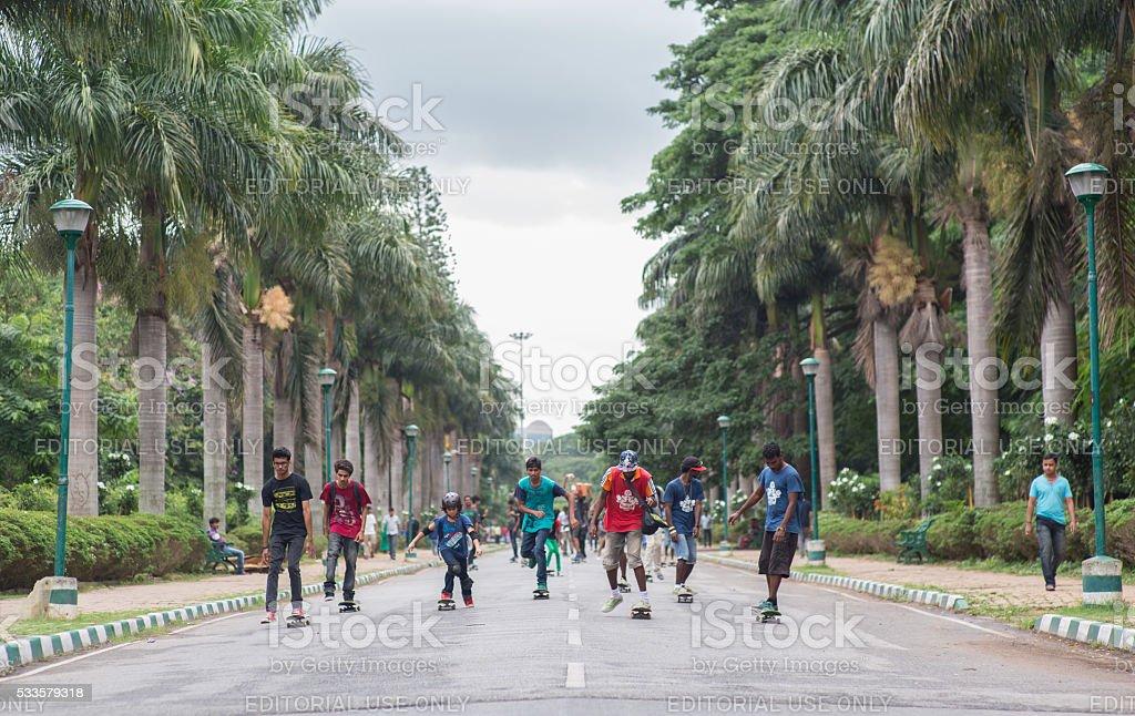 India_goskateday_park stock photo