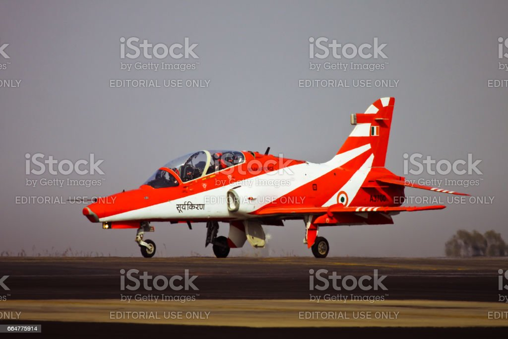 Indian Air Force Surya Kiran Hawk Taxing stock photo