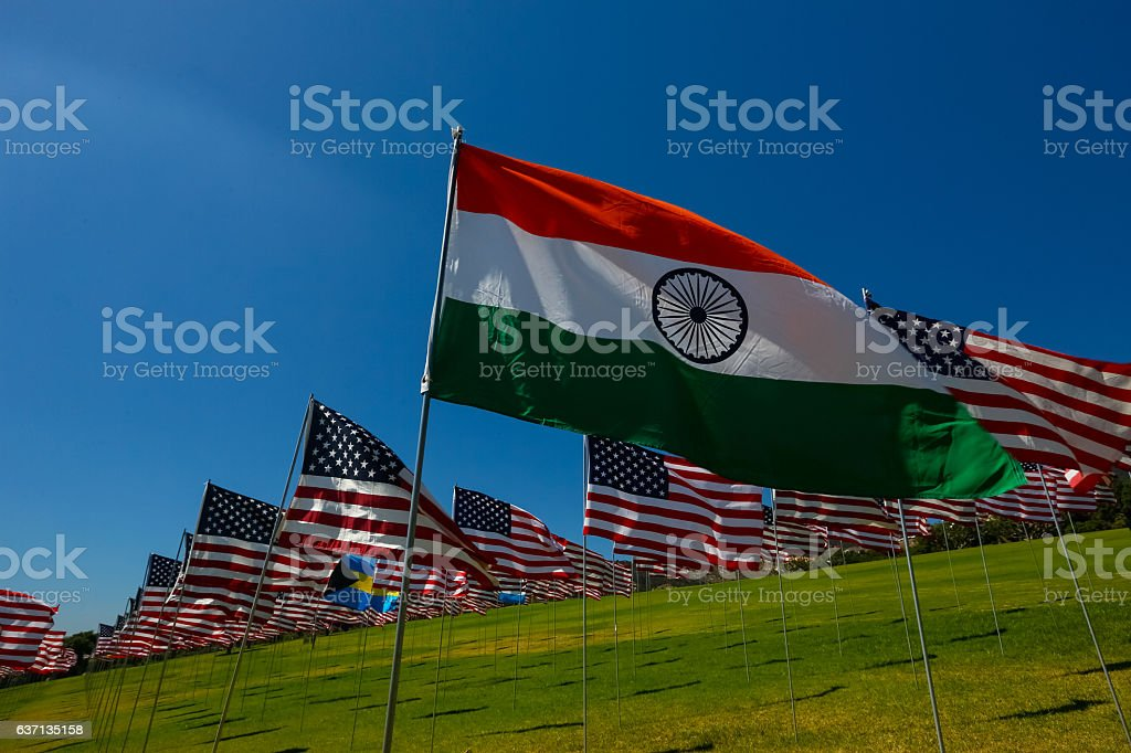 Indian American Relations stock photo