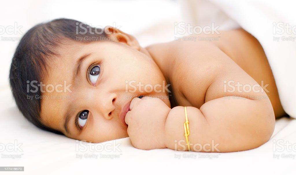 Indian baby girl stock photo