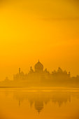 Indian background: Taj Mahal silhouette