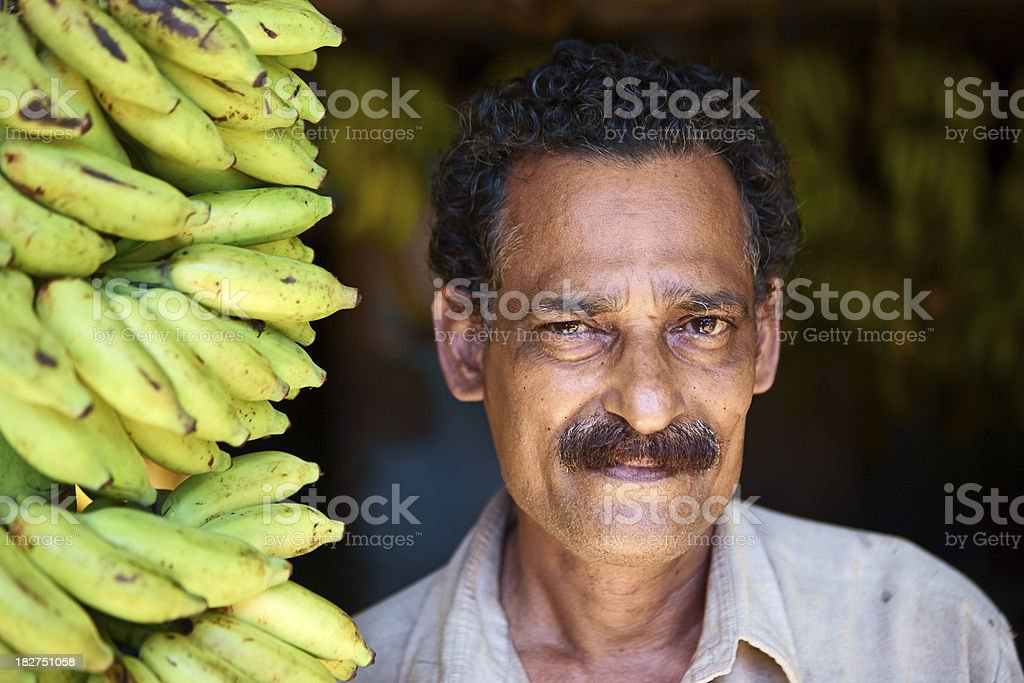 Indian banana seller royalty-free stock photo