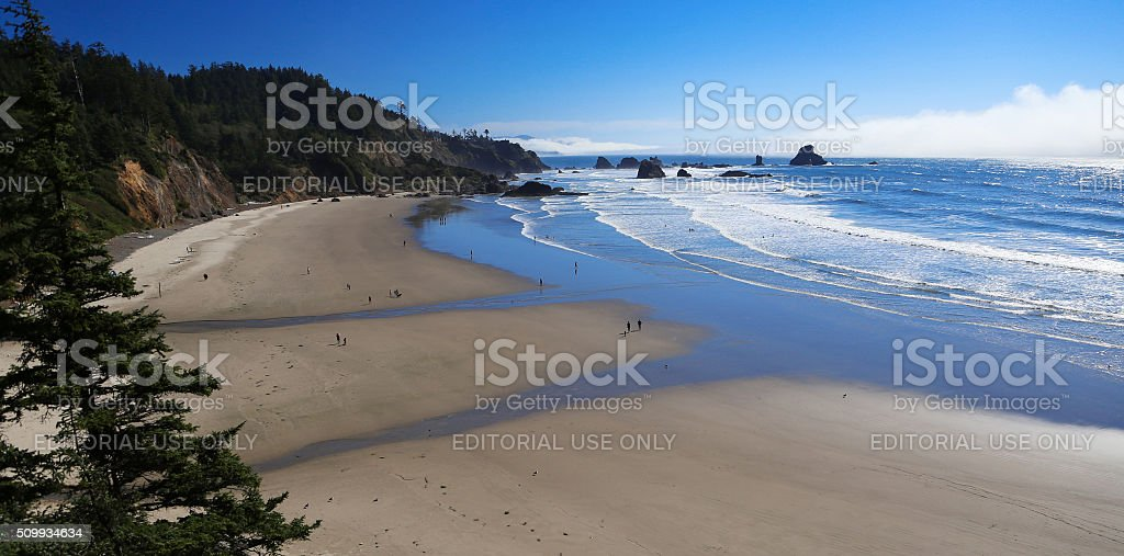 Indian Beach at Ecola State Park stock photo