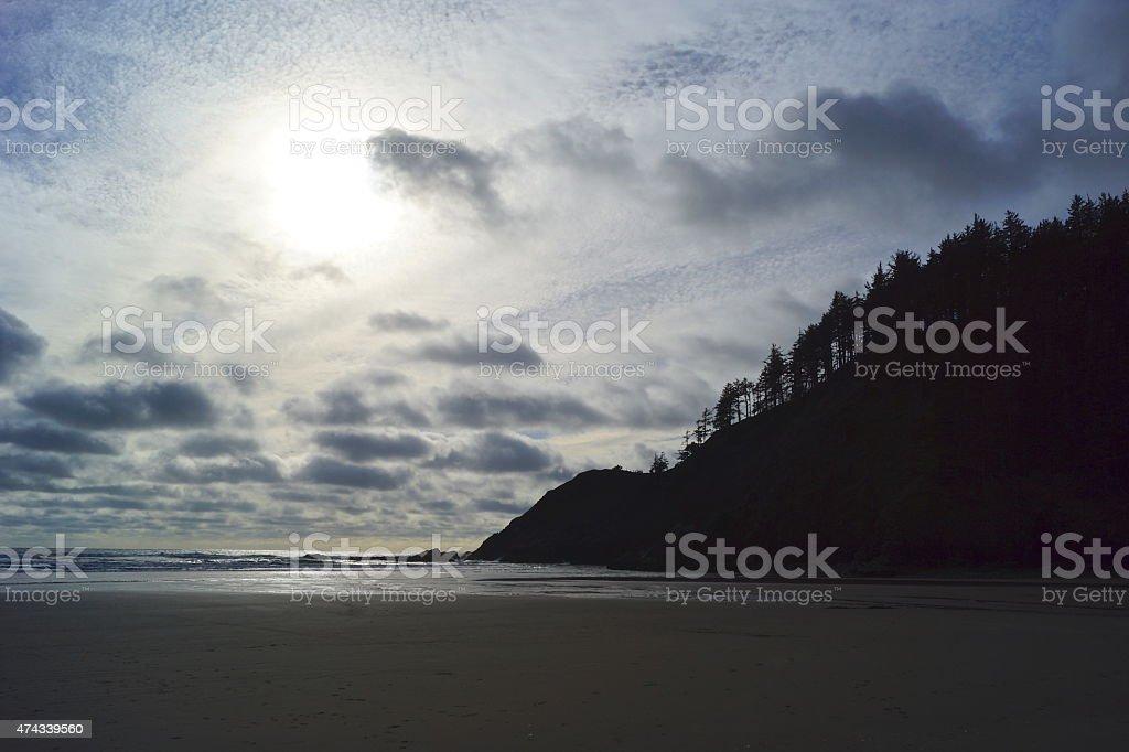 Indian Beach Shadow stock photo