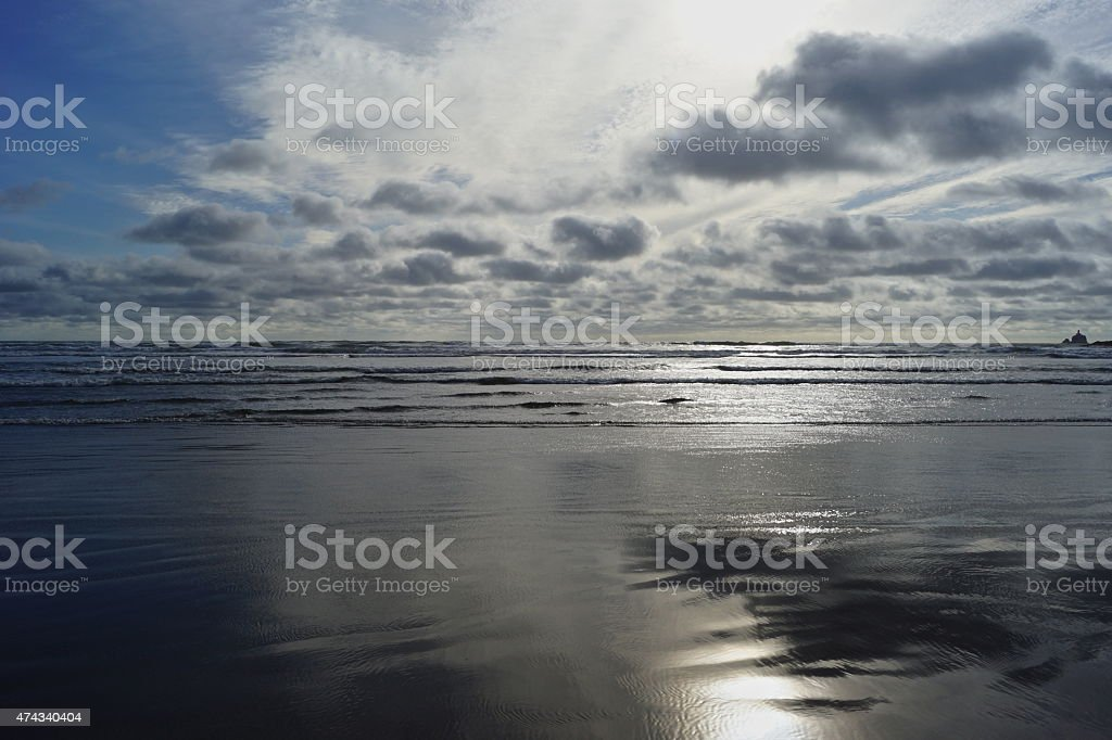 Indian Beach Silver Surf stock photo