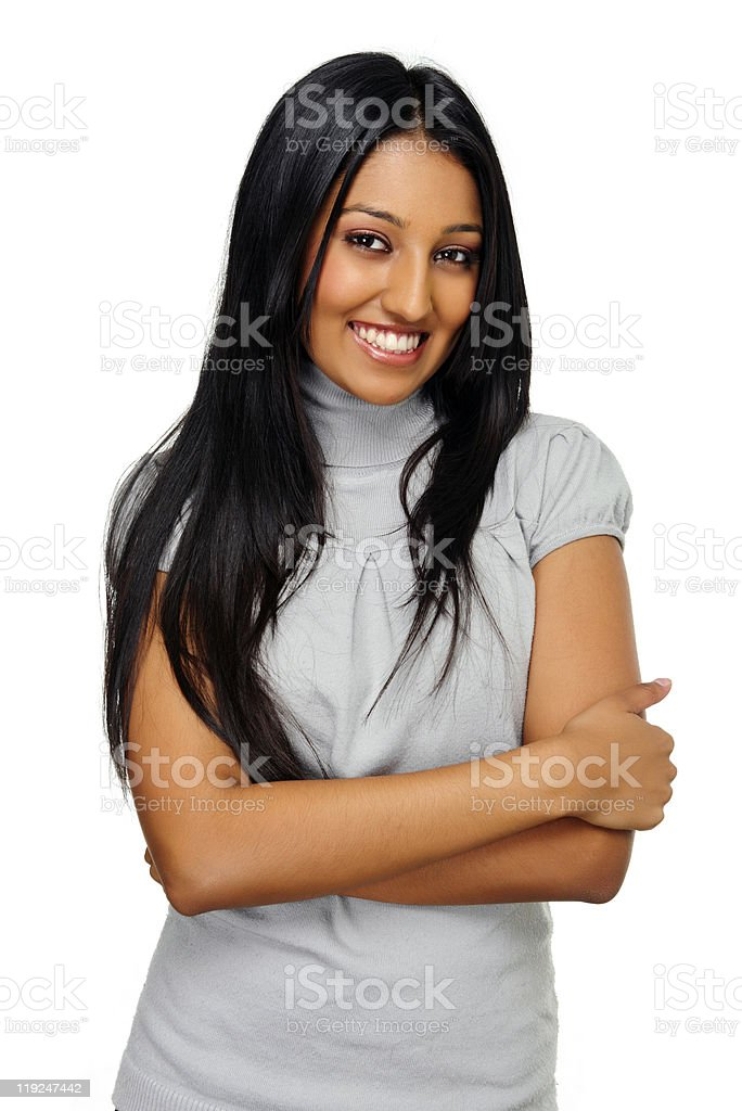 Indian beauty on white royalty-free stock photo