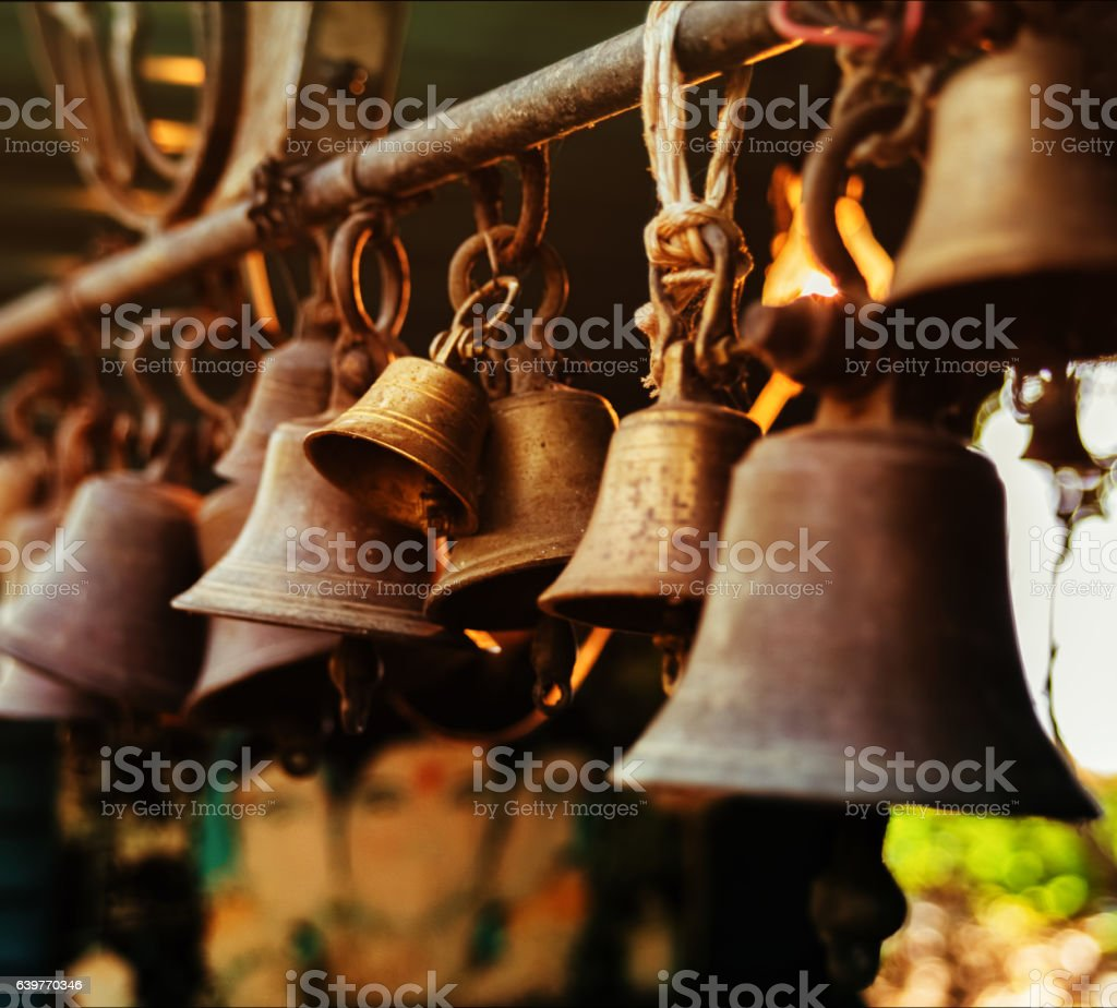 Indian bells stock photo