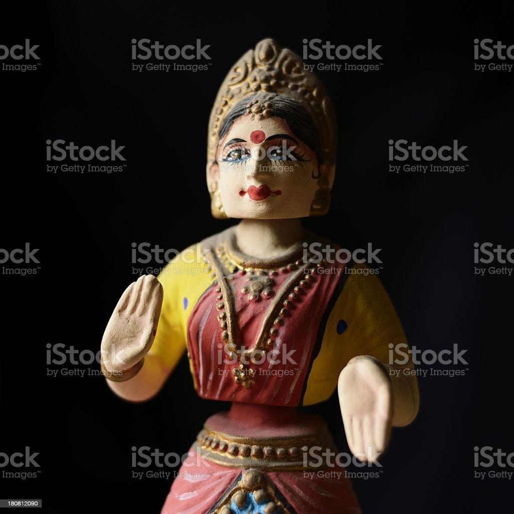 Indian Bharatnatyam Dancer Model royalty-free stock photo