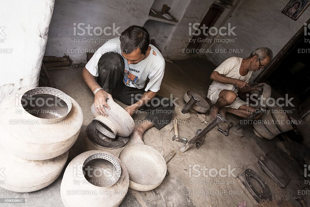 Indian blacksmiths royalty-free stock photo