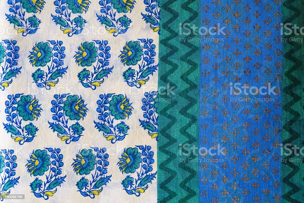 Indian block printed fabric royalty-free stock photo