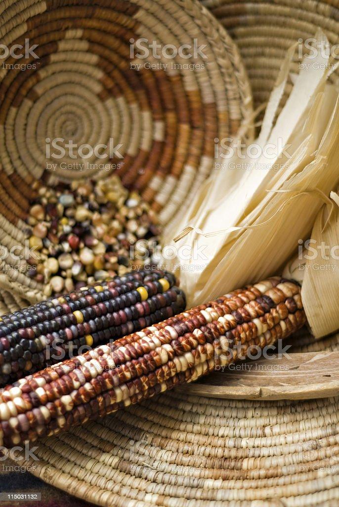 Indian Blue Corn royalty-free stock photo