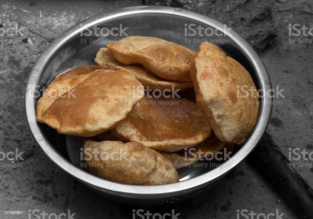 Indian Breakfast, Puri stock photo