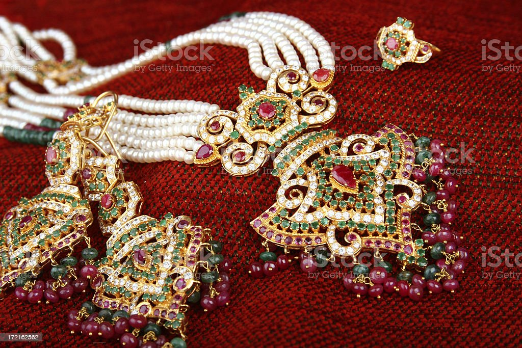 Indian Bridal Jewels royalty-free stock photo