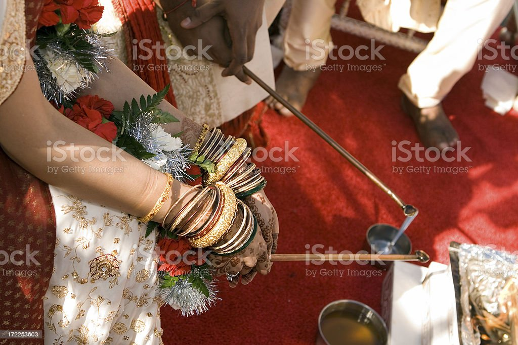 indian bride's hands royalty-free stock photo